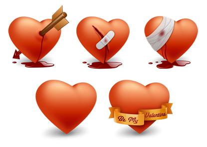 Dia del amor, iconos y vectores gratis - iconos-san-valentin
