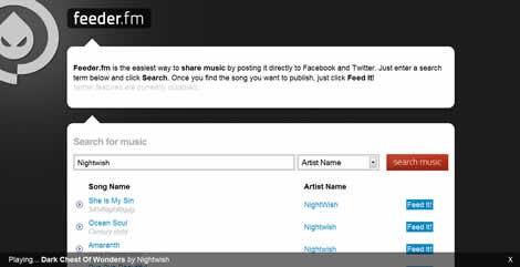 Compartir musica en Facebook con Feeder.fm - musica-facebook