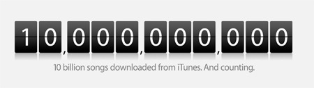 tenbillion Se ha vendido la canción diez mil millones en la iTunes Store