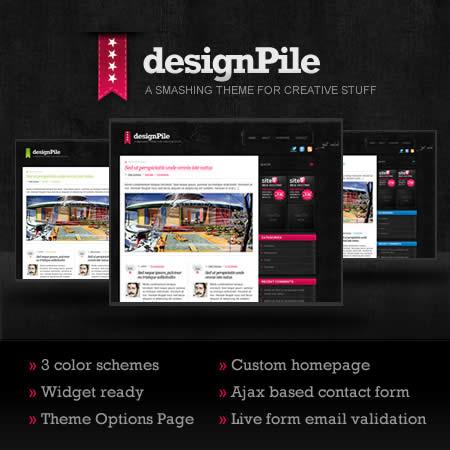 Themes wordpress gratis, designPile - themes-wordpress-gratis