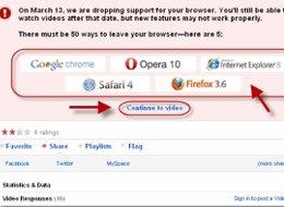 La muerte de Internet Explorer 6, Youtube dejará de darle soporte - youtube-ie6