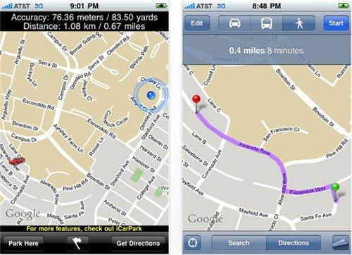 Aplicación para iPhone para encontrar tu auto - Take-Me-to-My-Car