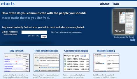Administrar contactos gmail y más con Etacts - etacts