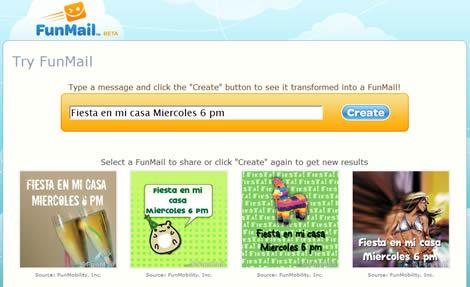 FunMail.com, una forma divertida de mandar mensajes - funmail