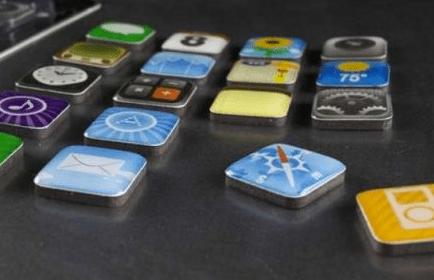 Imanes para el refrigerador con los iconos del iPhone - iPhon.fr_