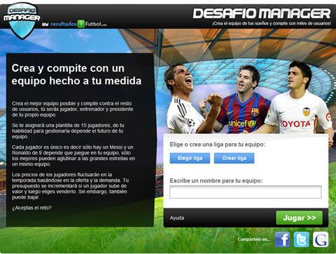 Juegos de futbol, Desafio Manager - juegos-futbol