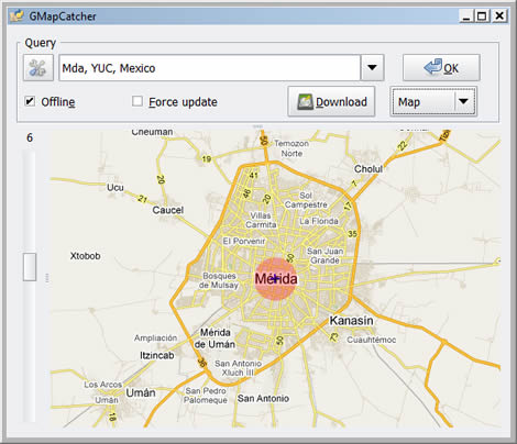 Mapas de google offline, GMapCatcher - mapas-google-offline