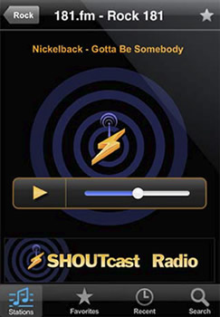 radio iphone Escuchar radio en iPhone con ShoutCast