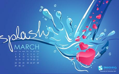 Fondos de pantalla de Marzo 2010 - wallpapers-marzo-heart-splash