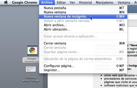 Chrome webadictos historial incognito 1 Cómo navegar en Google Chrome y que no se guarde en tu historial
