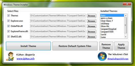 Instalar temas windows con Windows Themes Installer - Windows-Themes-Installer