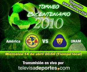 America vs Pumas en vivo, Bicentenario 2010 - america-pumas-en-vivo