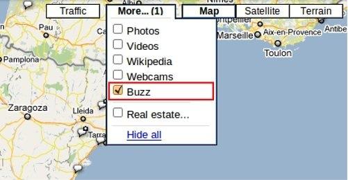 Google Maps añade una opción para Buzz - buzz-google-maps