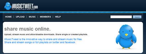 Compartir musica en twitter y facebook, iMusicTweet - compartir-musica