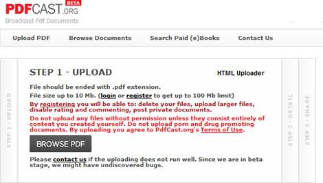 compartir pdf Compartir archivos PDF en PDFCast.org