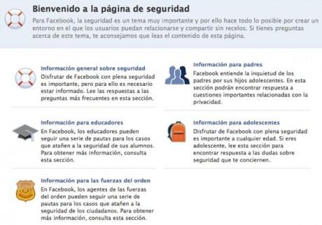 Facebook hace cambios a su centro de seguridad - facebook-e1271305933845