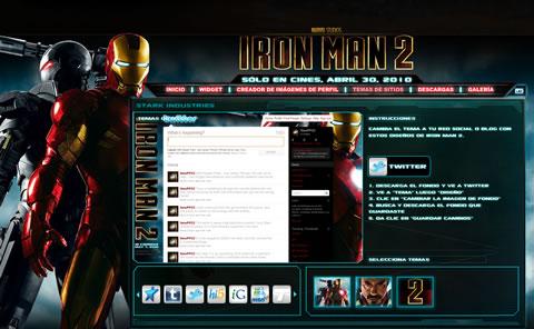 Iron Man 2, Fankit para personalizar tu msn y más! - iron-man-2