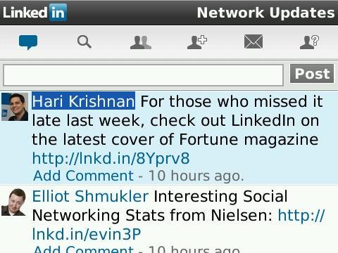 linkedin Network LinkedIn saca aplicación para Blackberry