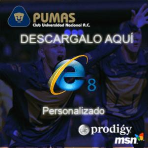 Alianza entre los Pumas de la UNAM y Microsoft - pumas-internet-explorer-8
