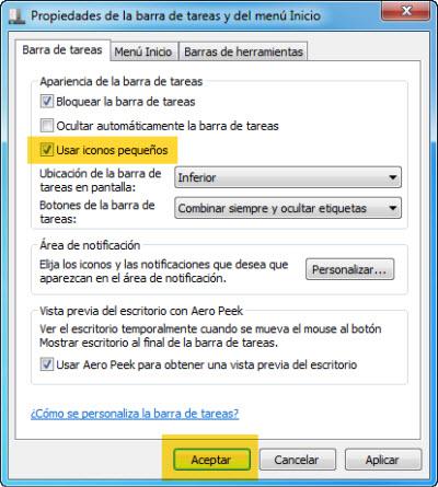 Como hacer tu barra de tareas de Windows 7 más pequeña - 30-05-2010-08-45-43-p.m.
