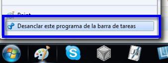 Barra de tareas 3 Como agregar programas a la barra de tareas de Windows 7