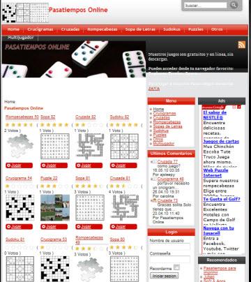Pasatiempos Online, ideal para entretenerse un rato - Pasatiempos-Online