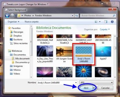 Tweakslogon 4 Como cambiar la pantalla de inicio de sesión de Windows 7