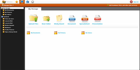 Administrar archivos de facebook, Amazon s3 y más con MyWeboo - administrar-archivos