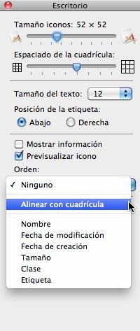 alinear iconos mac por defecto automaticamente 5 Alinea los iconos en el Finder automáticamente