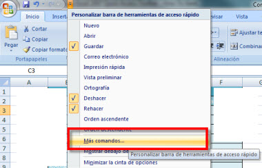 Personaliza la barra de herramientas de acceso rápido en Office 2007 - barra-office-1