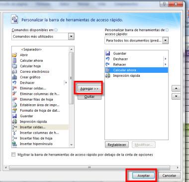 barra office 2 Personaliza la barra de herramientas de acceso rápido en Office 2007