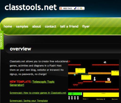 class Classtools.net, un sitio para crear juegos educativos