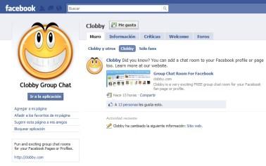 clobby en facebook Clobby, chat en grupo en Facebook
