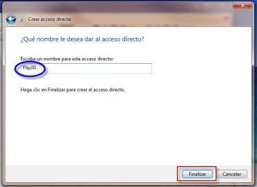 Como crear el acceso directo de Flip 3D en Windows - flip3d-2