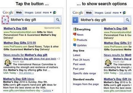 google mobile buscador El rediseño de Google también llega en las versiones móviles