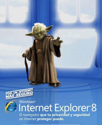 Yoda de StarWars prefiere Internet Explorer 8 - internet-explorer-starwars