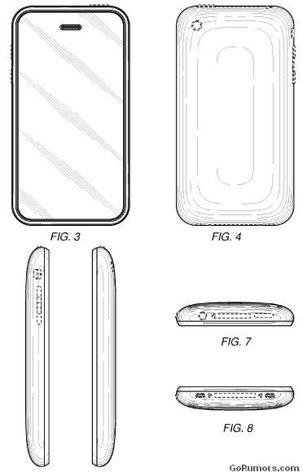 iphone form factor3g s Apple pantenta el diseño del iPhone 3G y del 3GS