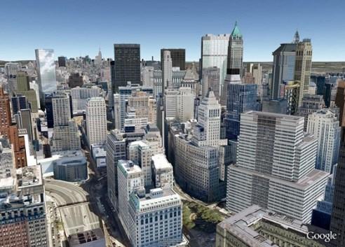 Google añade la opción 3D en Google Maps - new-york-city-google-earth