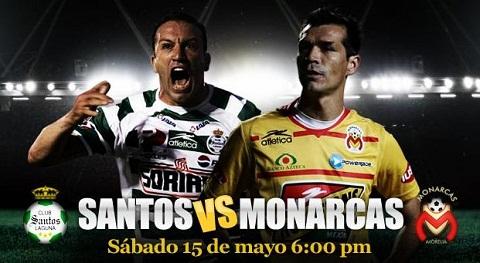 Santos vs Morelia en vivo Semifinales Bicentenario 2010 partido de vuelta - santos-monarcas-semifinales-vuelta
