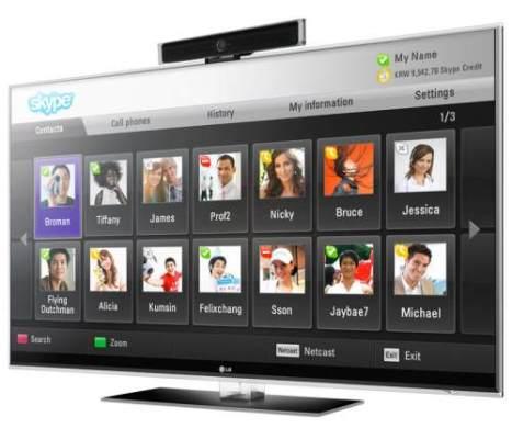 Skype implementará videoconferencia múltiple de hasta 5 usuarios - skype-hd-tv
