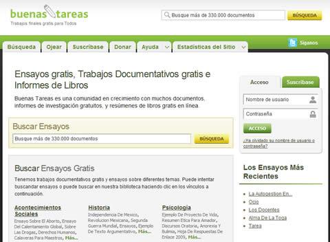 Ensayos gratis y más recursos para tus tareas, buenastareas.com - tareas-ensayos-gratis