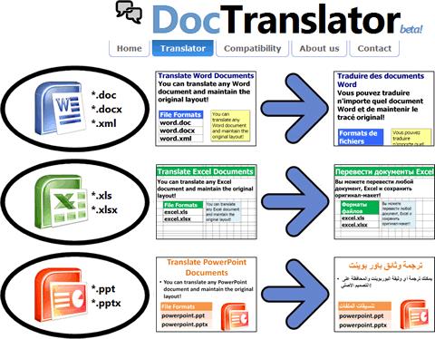 traducir archivos Traducir archivos de office con DocTranslator