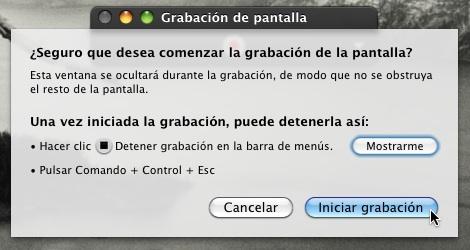 Grabar pantalla Quicktime mac 2 Cómo usar Quicktime Player para grabar tu pantalla