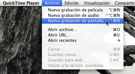 Grabar pantalla Quicktime mac Cómo usar Quicktime Player para grabar tu pantalla