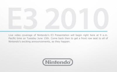 Cobertura en vivo del E3 por Nintendo - Nintendo-E3