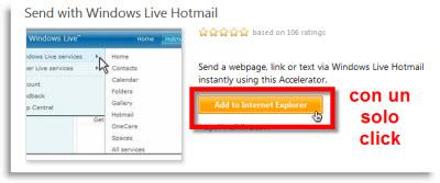 Enviar texto y enlaces vía Hotmail con IE8 - addon-enlaces-en-hotmail
