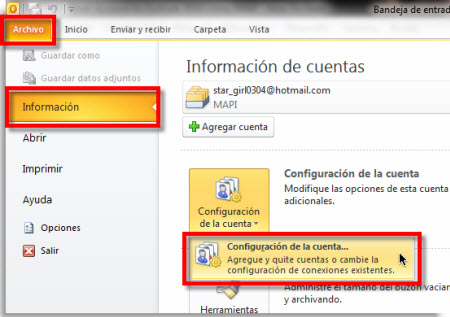 agregar gmail a outlook Agregar Gmail a Outlook 2010 usando IMAP