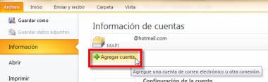 agregar otra cuenta outlook Agregar tu cuenta de Hotmail en Outlook 2010