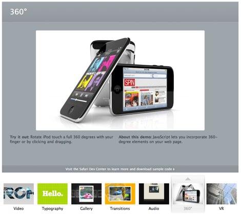 Demos html5 hechos por Apple - apple-html5-demos