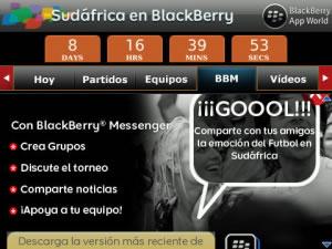 Mundial de futbol 2010 en blackberry - blackberry-sudafrica-2010